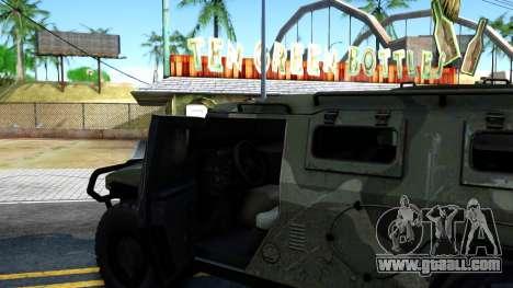 GAZ Tiger 2330 for GTA San Andreas inner view