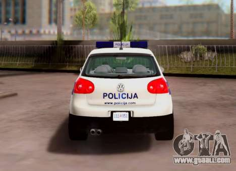 Golf V Croatian Police Car for GTA San Andreas right view