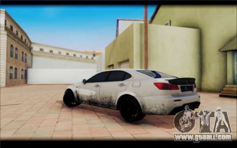 Lexus IS F for GTA San Andreas back left view