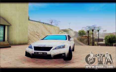 Lexus IS F for GTA San Andreas right view