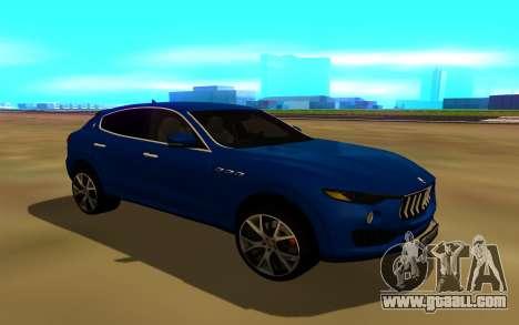 Maserati Levante for GTA San Andreas