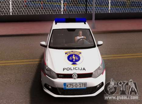 Volkswagen Polo GTI BIH Police Car for GTA San Andreas bottom view