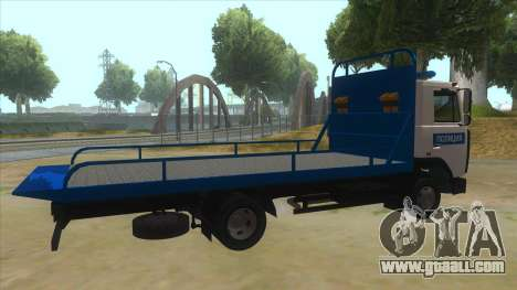 MAZ Tow truck Police for GTA San Andreas right view