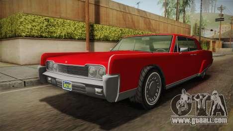 GTA 5 Vapid Chino Continental for GTA San Andreas right view