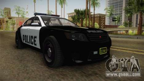 GTA 5 Cheval Fugitive Police for GTA San Andreas right view