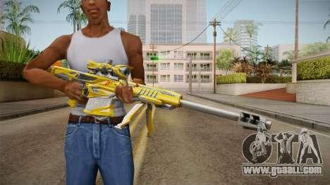 Cross Fire - M82A1 Iron Shark Noble Gold for GTA San Andreas third screenshot