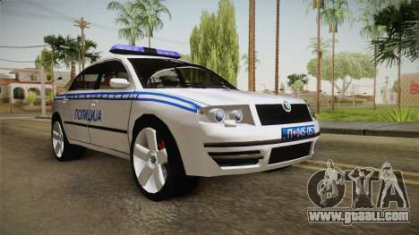 Skoda Superb Serbian Police v2 for GTA San Andreas right view