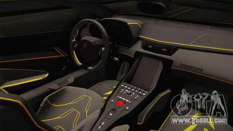 Lamborghini Centenario Roadster for GTA San Andreas inner view