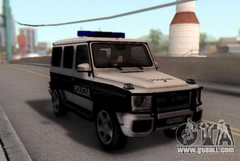 Mercedes-Benz G65 AMG BIH Police Car for GTA San Andreas back view