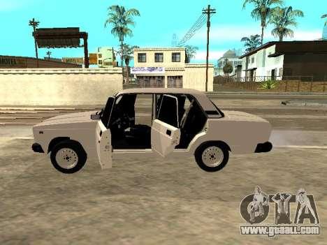VAZ 2107 Armenian for GTA San Andreas right view