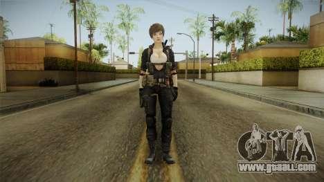 Sudden Attack 2 - Female Blue Reskinned for GTA San Andreas second screenshot