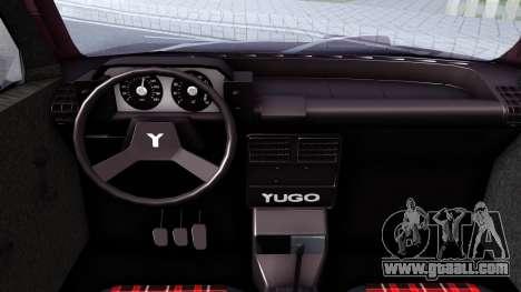 Yugo Koral 45A for GTA San Andreas inner view