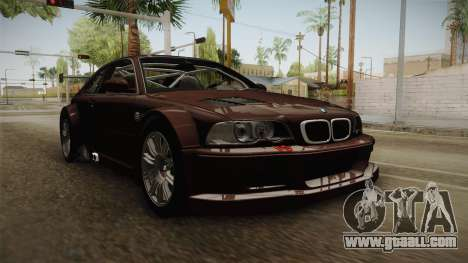BMW M3 E46 2005 NFS: MW Livery for GTA San Andreas right view