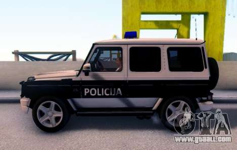 Mercedes-Benz G65 AMG BIH Police Car for GTA San Andreas left view