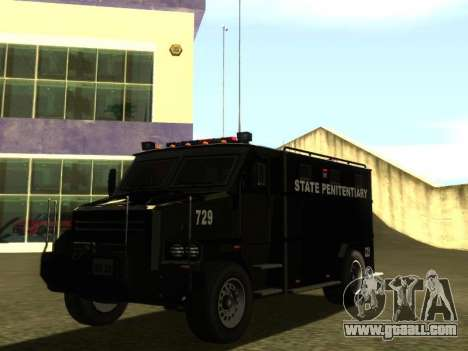 International 4000 Police Special for GTA San Andreas back left view