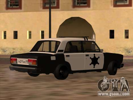 Sheriff HUNTER 2107 for GTA San Andreas left view