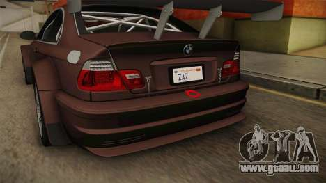 BMW M3 E46 2005 NFS: MW Livery for GTA San Andreas upper view