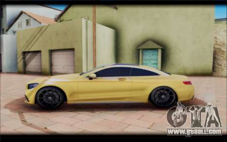 Mercedes-Benz S63 Coupe GOLD for GTA San Andreas left view
