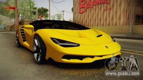 Lamborghini Centenario Roadster for GTA San Andreas