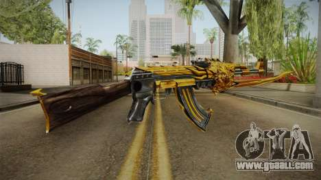 Cross Fire - AK-47 Beast Noble Gold v1 for GTA San Andreas third screenshot