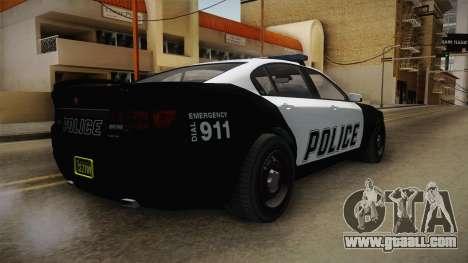 GTA 5 Cheval Fugitive Police IVF for GTA San Andreas left view