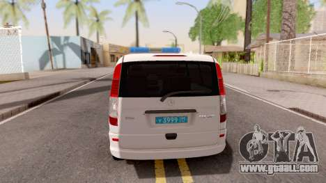 Mercedes-Benz Vito W639 Russian Police for GTA San Andreas back left view