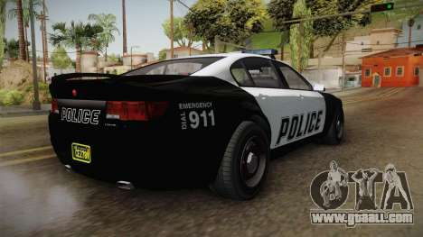 GTA 5 Cheval Fugitive Police for GTA San Andreas back left view