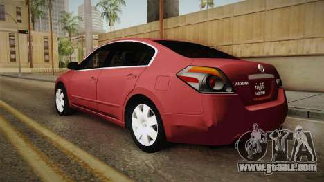Nissan Altima 2009 Standard for GTA San Andreas left view