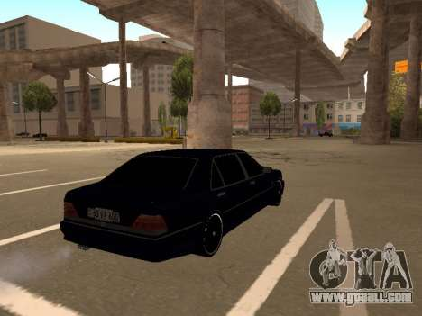 Mercedes-Benz W140 Armenian for GTA San Andreas back left view