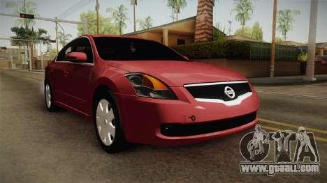 Nissan Altima 2009 Standard for GTA San Andreas