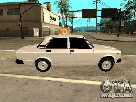 VAZ 2107 Armenian for GTA San Andreas left view