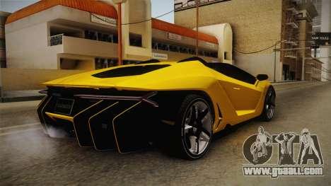 Lamborghini Centenario Roadster for GTA San Andreas left view