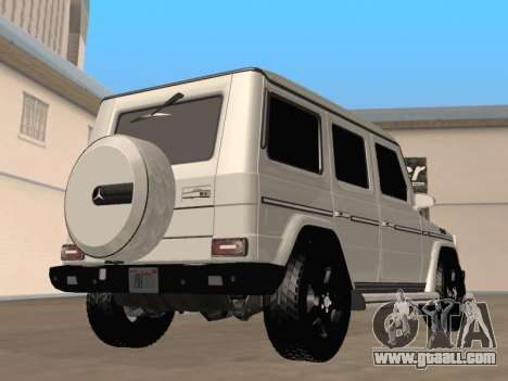 Mercedes-Benz G65 AMG 2012 for GTA San Andreas back left view