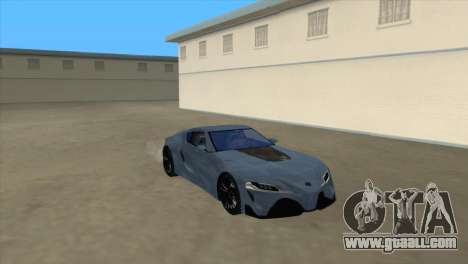 Toyota Supra FT1 Concept 2014 for GTA San Andreas back left view