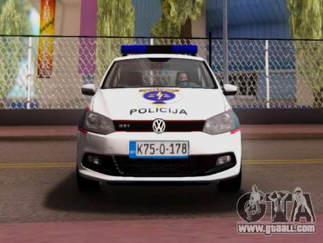Volkswagen Polo GTI BIH Police Car for GTA San Andreas upper view