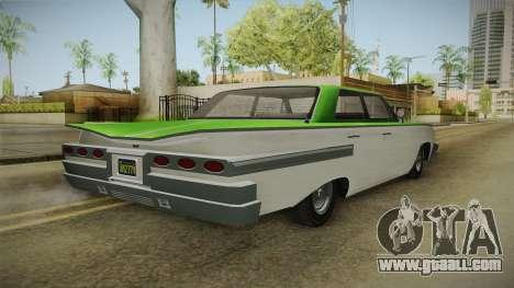 GTA 5 Declasse Voodoo 4-door IVF for GTA San Andreas back left view