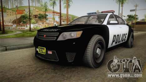 GTA 5 Cheval Fugitive Police IVF for GTA San Andreas right view