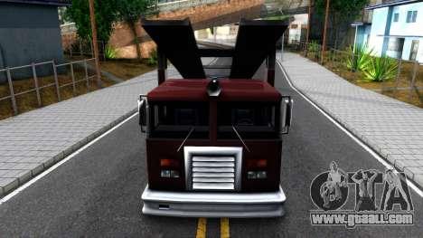 Fire Truck Packer for GTA San Andreas inner view