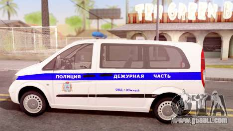 Mercedes-Benz Vito W639 Russian Police for GTA San Andreas left view