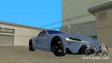 Toyota Supra FT1 Concept 2014 for GTA San Andreas back view