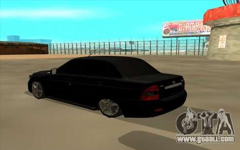 Lada Priora Land Cruiser for GTA San Andreas back left view