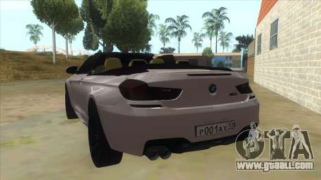 BMW M6 F13 Cabrio for GTA San Andreas back left view