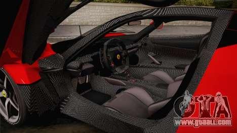 Ferrari LaFerrari for GTA San Andreas side view