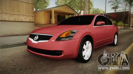 Nissan Altima 2009 Standard for GTA San Andreas back left view
