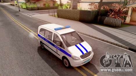 Mercedes-Benz Vito W639 Russian Police for GTA San Andreas right view