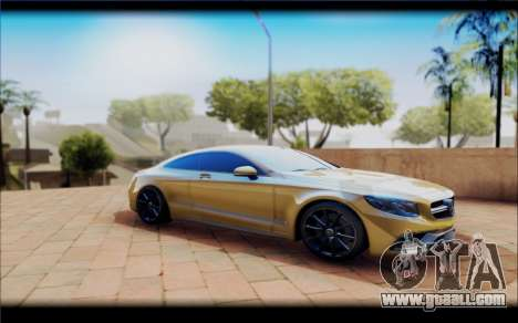 Mercedes-Benz S63 Coupe GOLD for GTA San Andreas