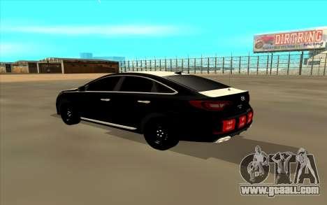 Hyundai Sonata for GTA San Andreas back left view