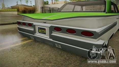 GTA 5 Declasse Voodoo 4-door IVF for GTA San Andreas inner view