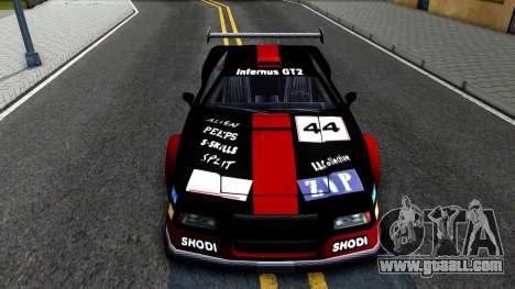 Infernus GT2 for GTA San Andreas inner view