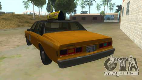 Chevrolet Impala Taxi 1985 for GTA San Andreas back left view